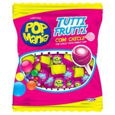 Imagem de Pirulito Pop Mania Tutti Frutti Recheio Chiclete c/50 - Riclan