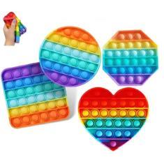 Imagem de Fidget Toys Stress Relief Brinquedo Empurre Pop Bolha Autismo