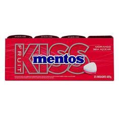 Pastilha Mentos Kiss Fruit Morango C/12 - Perfetti