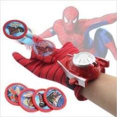 Imagem de Luva Homem Aranha Lança Disco Teia Brinquedo Lançador Spider