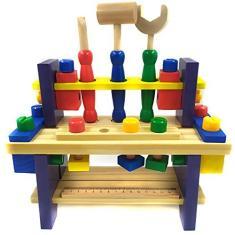 Imagem de Brinquedo Bancada De Ferramentas Infantil Madeira 45 Peças
