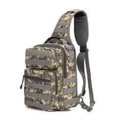 Imagem de Mochila tiracolo tática, bolsa de ombro, pequena bolsa de ombro à prova d'água para uso ao ar livre, mochila transversal para caminhadas, ciclismo, caminhada