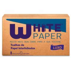 Imagem de Papel Toalha White Paper 2 Dobras 23X21Cm Com 1000 Luxo