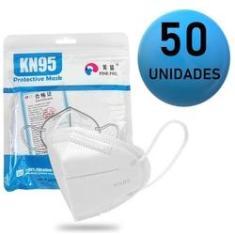 Imagem de Máscara Kn95 Proteção Facial 5 Camadas Pff2 N95 - Kit 50 Uni