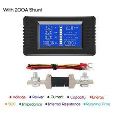 Imagem de Romacci Visor LCD Tensão de corrente digital Medidor de energia solar Multímetro Amperímetro Voltímetro Medidor de bateria do monitor