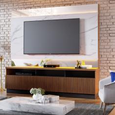 Imagem de Estante Home Theater com LED para TVs até 70 Polegadas Marajó Colibri Noce Milano/