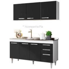 Imagem de Cozinha Compacta 3 Gavetas 6 Portas com Pia Lisboa Lumil Móveis