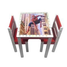 Imagem de Mesa Mesinha Infantil Didática 2 Cadeiras Educativa Brinquedo Criança Provençal