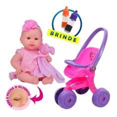 Imagem de Boneca Bebê Reborn Recem Nascida Carrinho Lindo