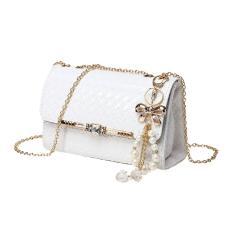 Imagem de Ombro Moda doce cor Messenger Bag Feminino pu poliéster de cor sólida-G