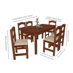 Imagem de Mesa Arauna com 6 Cadeiras Primavera