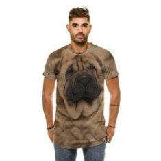 Imagem de Camiseta Oversized Cachorro SharPei Bege
