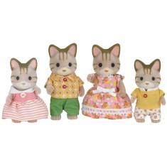 Imagem de Boneca Sylvanian Families Família dos Gatos Listrados Epcom