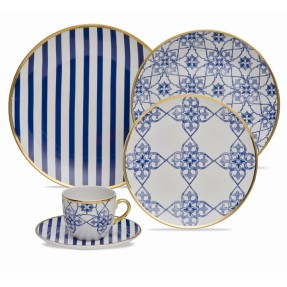 Aparelho de Jantar Redondo de Porcelana 30 peças - Coup Lusitana Oxford Porcelanas