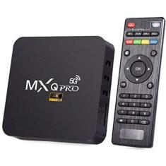 Imagem de Smart TV Box MXQ Pro Wi-Fi 5G 128GB 4K Android TV HDMI USB