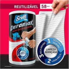 Pano De Limpeza Scott Duramax Reutilizável 58 Unidades