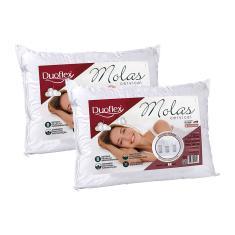 Imagem de Kit 2 Travesseiros Molas Cervical Duoflex P/ Dormir De Lado MN2101