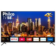 "Smart TV TV LED 58"" Philco 4K HDR Netflix PTV58F60SN 3 HDMI"