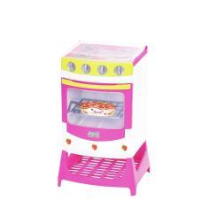Imagem de Fogão Cozinha Infantil Menina Moranguita Panela Cupcake e Acessórios