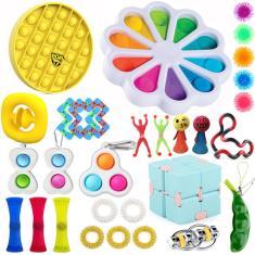 Imagem de 1/4/31pcs Pop Original It Fidget Toy Push Pop Bubble Autism