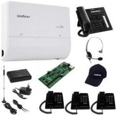 Kit PABX Conecta Mais 2x4 Ramais TI 830I TC 50 CHS 55 Disa