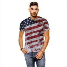 Imagem de Camiseta Estados Unidos Front Grunge  Masculina