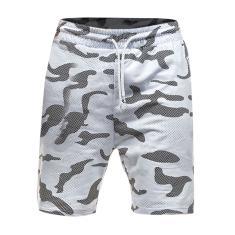 Imagem de Calça de renda masculina camuflada calça de cinco minutos larga calça esportiva masculina