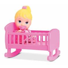 Imagem de Boneca Little Dolls Bercinho Com Chupeta Divertoys