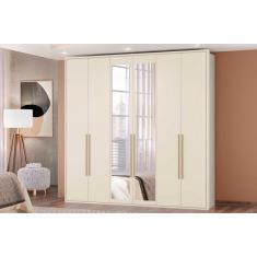Imagem de Guarda-Roupa Casal 6 Portas Gavetas com Espelho Chamonix Albatroz