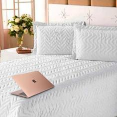 Imagem de Kit Enxoval com Edredom Clean 3pçs para Cama Casal Queen  Cotex