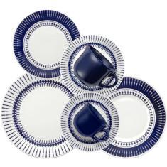 Imagem de Aparelho de Jantar Redondo de Cerâmica 42 peças - Actual Biona Oxford Porcelanas
