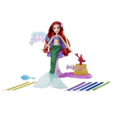 Imagem de Boneca Princesas Disney Royal Ribbon Salon Ariel Hasbro