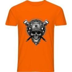 Imagem de Camiseta Poly Laranja Caveira1