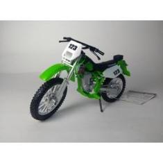 Imagem de Miniatura Moto Motocross Kawasaki KLX 250SR Escala 1:18!