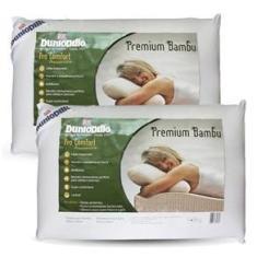 Imagem de Kit Travesseiro Dunlopillo Premium Bambu 50x70