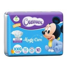 Fralda Cremer Disney Baby Magic Care Tamanho XXG Jumbinho 16 Unidades Peso Indicado 15 - 22kg