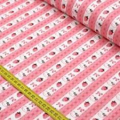 Imagem de Tecido Estampado para Patchwork - Hello Kitty Lace (0,50x1,40)