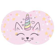 Imagem de Tapete PET Gato Rosa 55x35cm