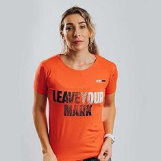 Imagem de Camiseta Treino Baby Look Feminina Leave Your Mark Laranja Ultrawod