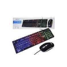 Imagem de Kit Teclado Mouse Gamer Computador Pc Usb Abnt2 Iluminado Led Rgb Exbom BK-G550