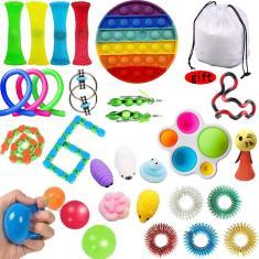 Imagem de Brinquedos fid, Pop It Fidget Toy Push Pop Bubble Fidget Sensory