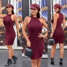 Imagem de Vestido De Festa Curto Roupas Femininas Tricot Trico #vlm403