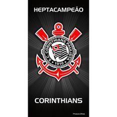 Imagem de Toalha Buettner Veludo Estampado Corinthians HeptaCampeao