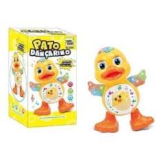 Imagem de Brinquedo Infantil Pato Dançarino Patinho Musical Com Luz
