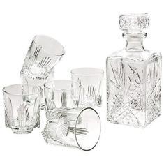 Imagem de Bormioli Rocco Selecta Licoreira de 1l com 6 Copos de Whisky, Transparente