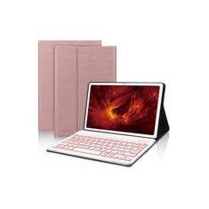 Imagem de Galaxy Tab A7 Keyboard Case - Samsung Tab A7 Case com teclado, 7 Color Backlight, PU Leather Folio Cover para Samsung Tab A7 10.4 2020 SM-T500 T505 T507, Auto Wake/Sleep, Rose Gold