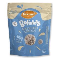 Imagem de Bolinhas Flormel zero Lactose 60g - Doce de leite c/coco