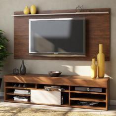 Imagem de Rack com Painel para TV Até 55 Polegadas 1 Porta Jhon Seda/Off White