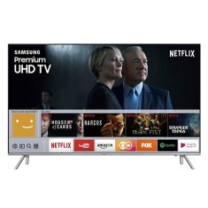 "Smart TV TV LED 82"" Samsung Série 7 4K HDR Netflix UN82MU7000 4 HDMI"