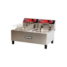 Fritadeira Elétrica Croydon FC2B 9 litros Inox/Preto